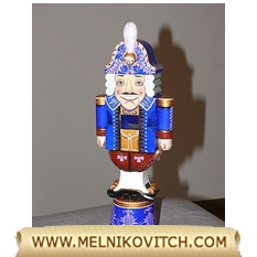 Figurine Prince Fakardin a wooden nutcracker doll (toy)