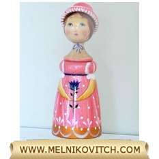 Mary a Nutcracker figurine carved from wood