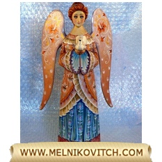 Figurine Angel with cross as birthday gift