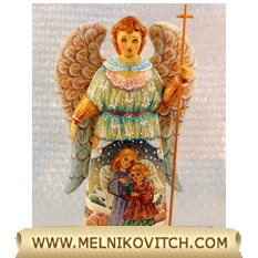 Guardian Angel holding a cross motif «Angel and child»