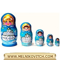 Matreshka doll 5pc - theme Russian Church-Nesting doll