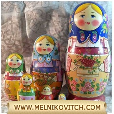 Matryoshka nesting doll with 7 sets «Garden fruits»